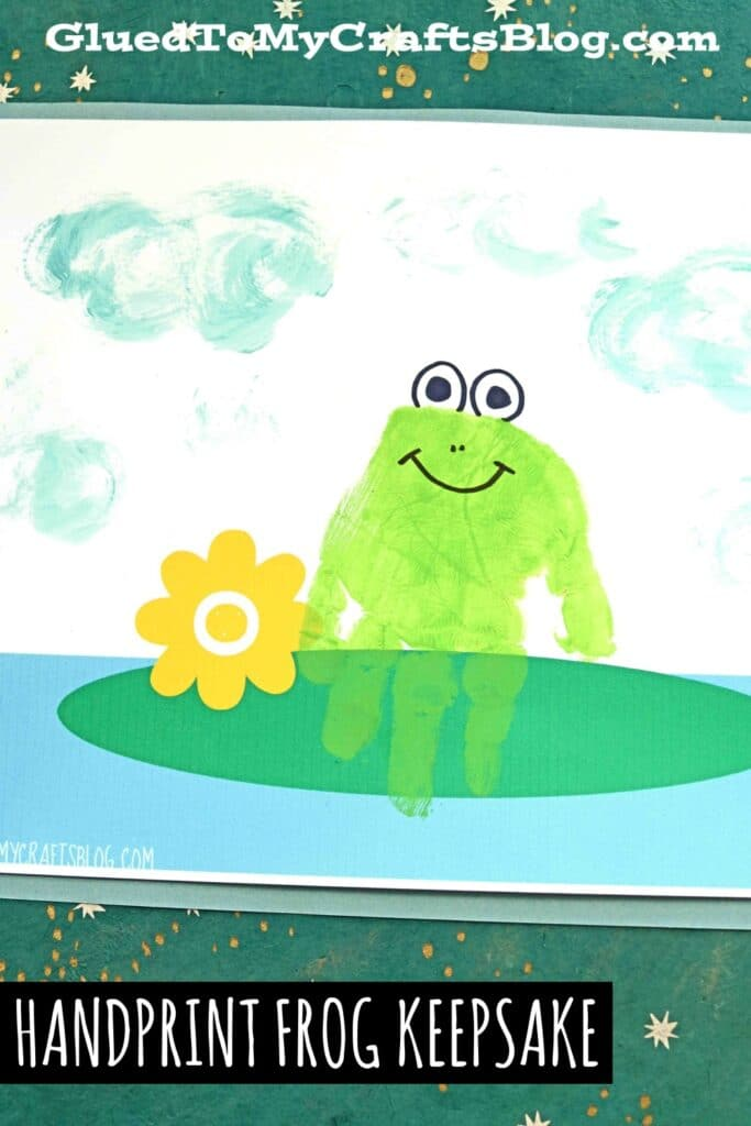 Painted Handprint Frog Keepsake Craft Idea For Kids