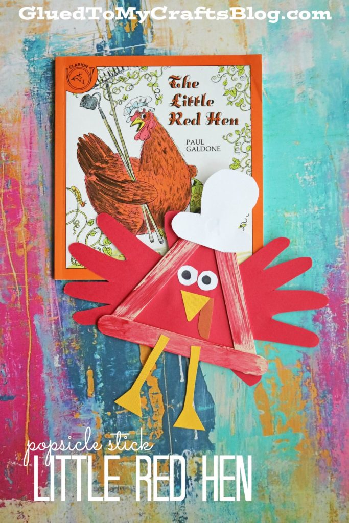 Popsicle Stick Little Red Hen - Kid Craft