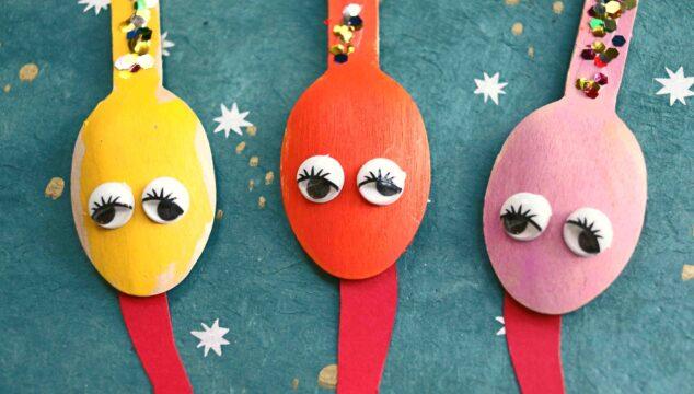 Wooden Spoon Snakes - Slithering Good Kid Craft Idea