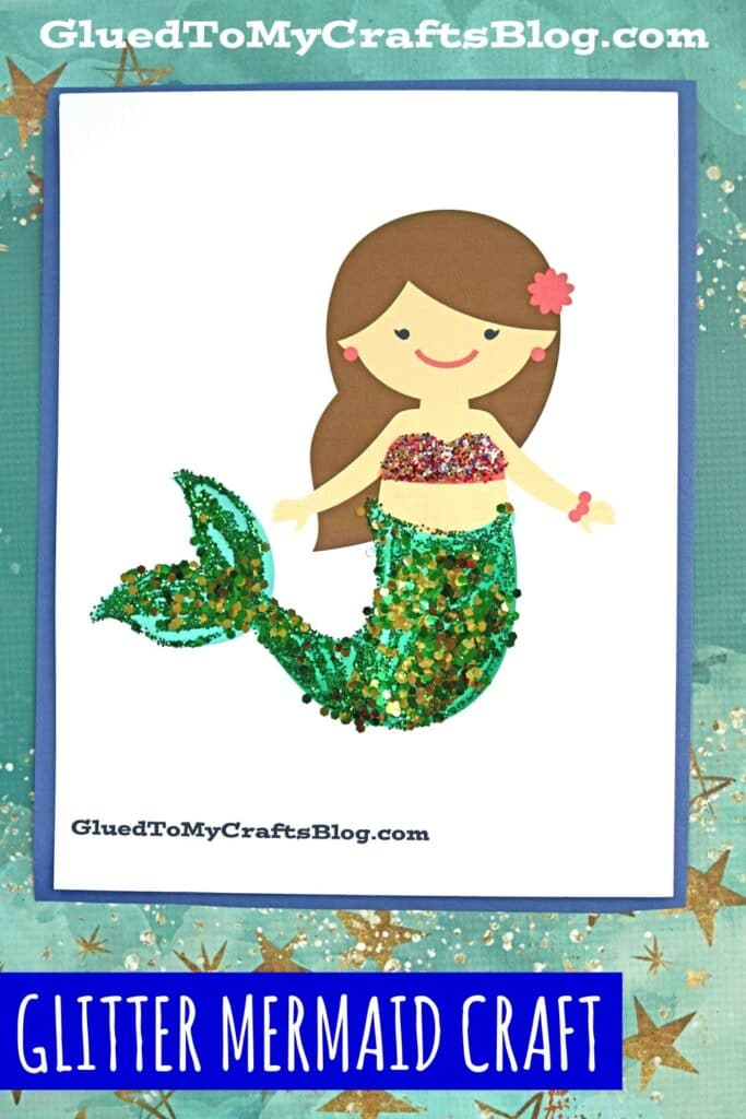 Glitter Mermaid Tail - Kid Craft Idea w/free printable