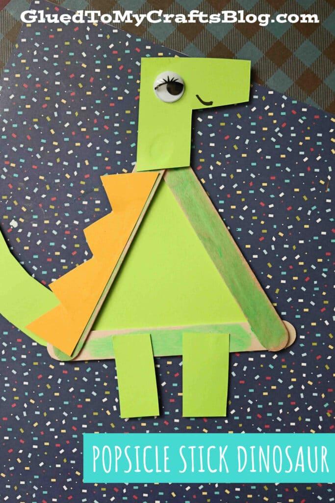Popsicle Stick Dinosaur - Kid Craft Idea