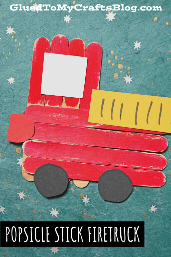 Popsicle Stick Firetruck - Super Easy Kid Craft Idea