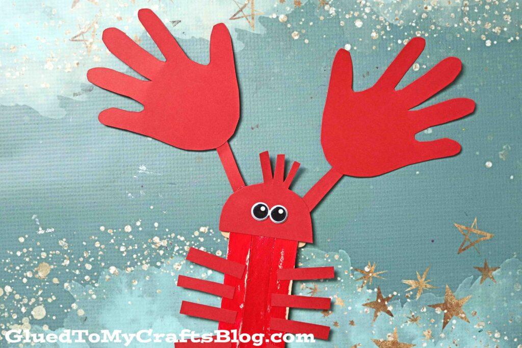 Popsicle Stick Handprint Lobster - Kid Craft