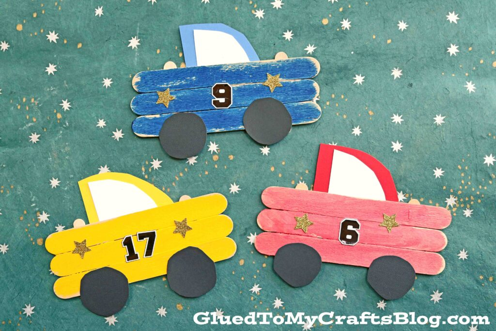 Super FAST Popsicle Stick Race Cars - Kid Craft Tutorial