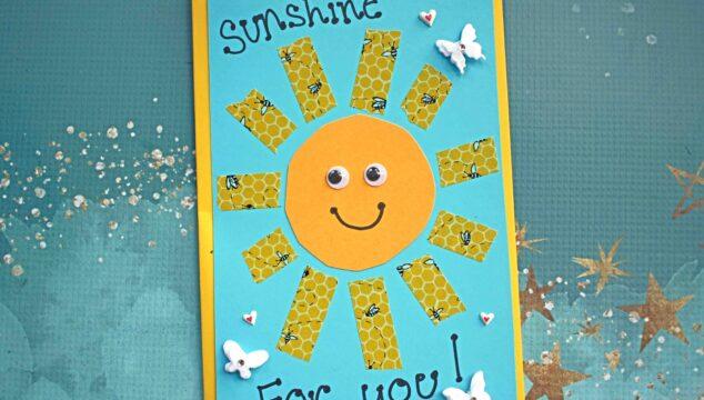 Handmade Washi Tape Sunshine Card - Kid Craft