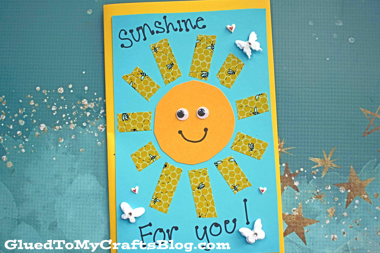 Handmade Washi Tape Sunshine Card