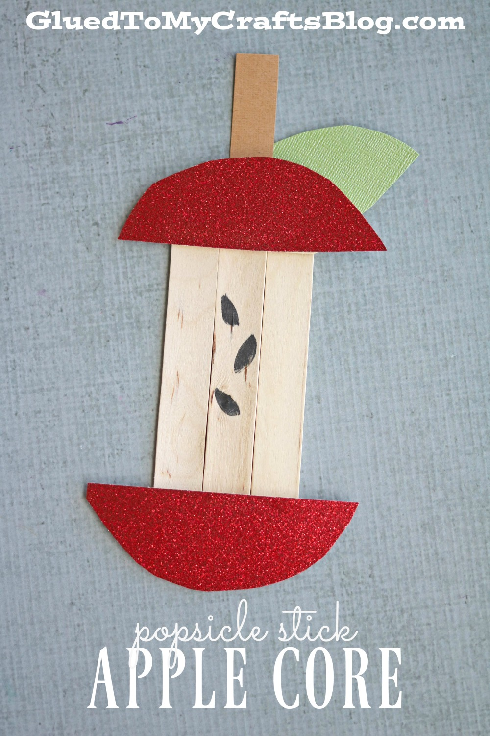 Popsicle Stick Apple Core Kid Craft Glued To My Crafts