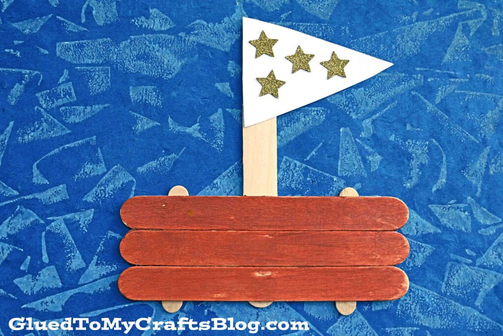 Popsicle Stick Sailboat - Kid Craft Idea For Summer