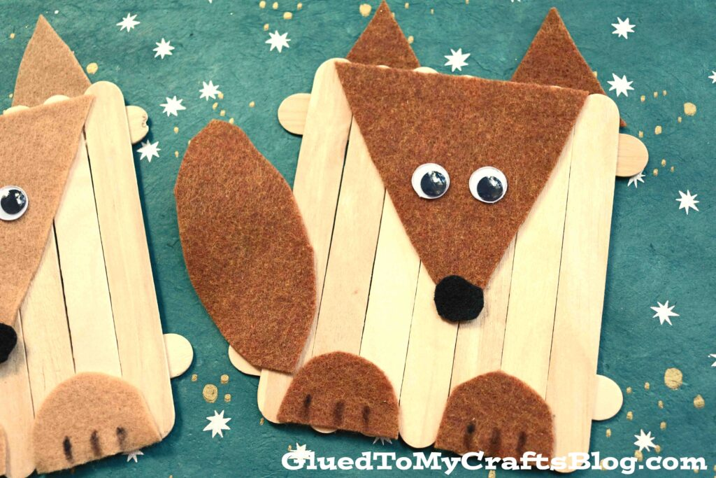 Craft Felt & Popsicle Stick Dog - Kid Craft