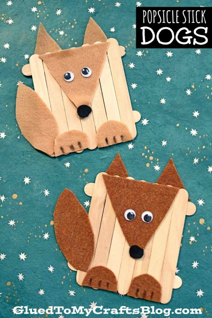 Craft Felt & Popsicle Stick Dog - Kid Craft