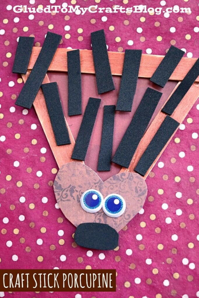 Craft Foam & Popsicle Stick Porcupine - Kid Craft