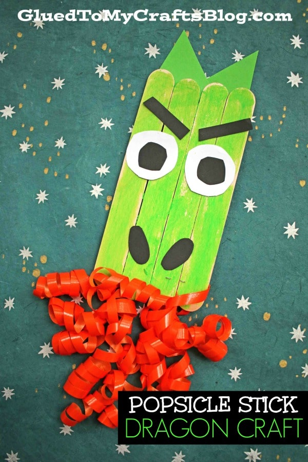 Popsicle Stick Firing Breathing Dragon - Kid Craft