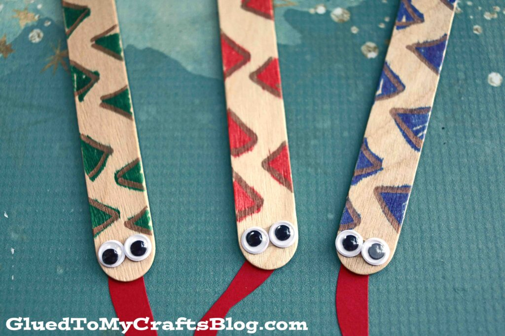 Popsicle Stick Snakes - Kid Craft Tutorial