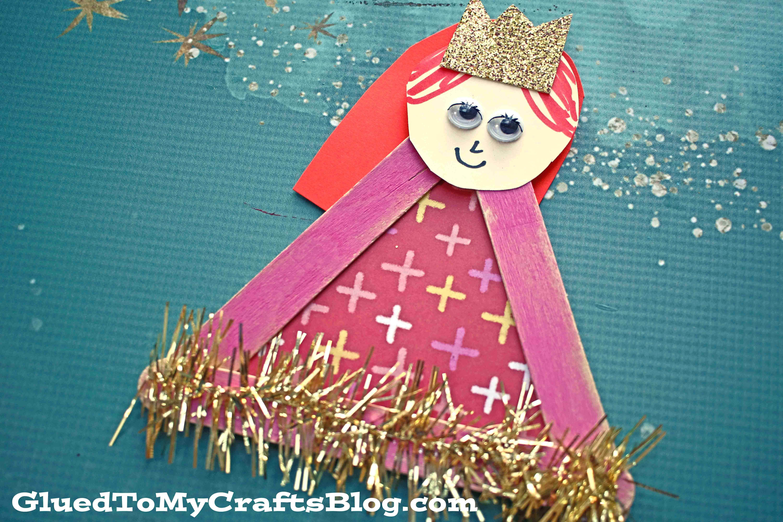 Popsicle Stick Princess Puppet - Kid Craft