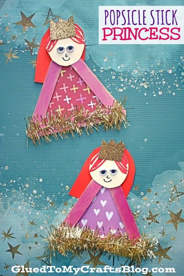 Popsicle Stick Princess - Kid Craft