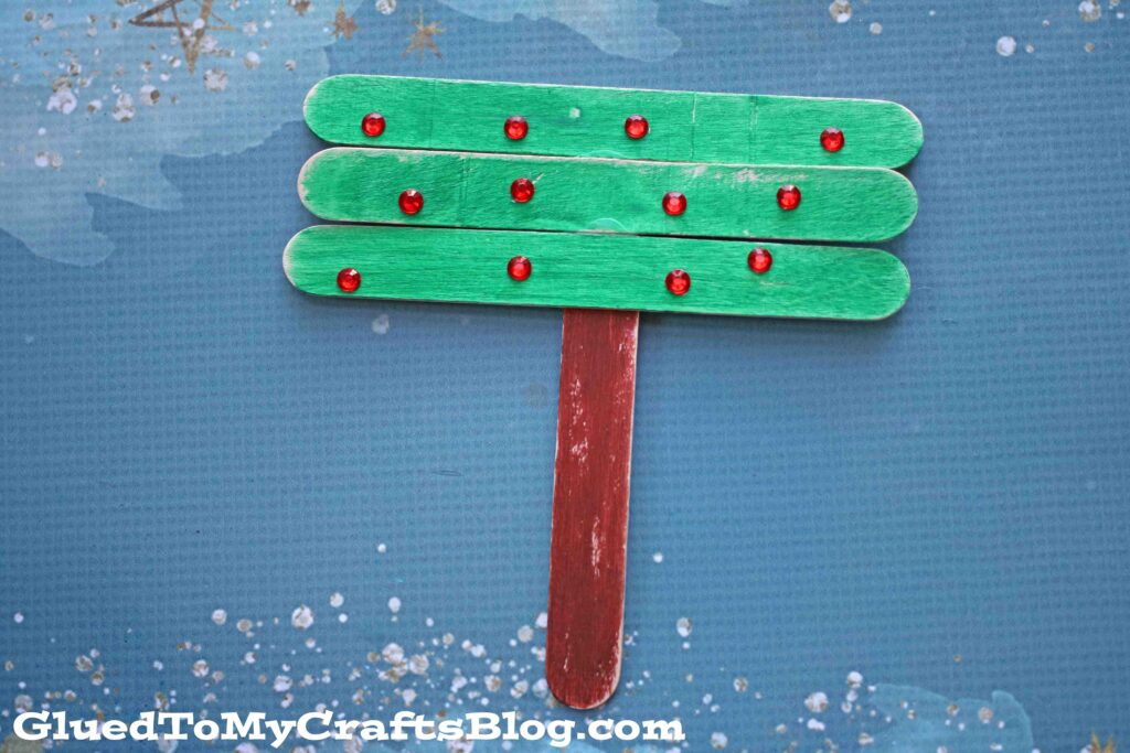 Popsicle Stick T is for Tree - Fall Kid Craft Idea