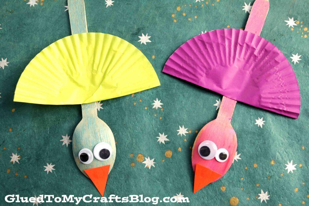 Wooden Spoon Bird Puppet - Kid Craft Idea