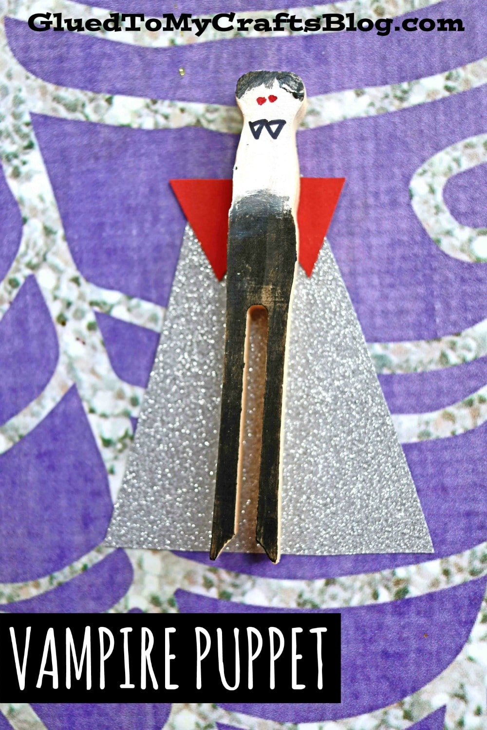 Chilling But Super Easy Clothespin Vampire Puppet Craft Idea