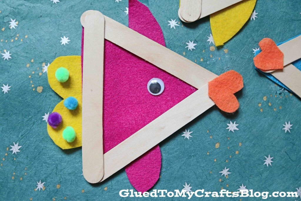 Popsicle Stick & Craft Felt Fish - Kid Craft Idea