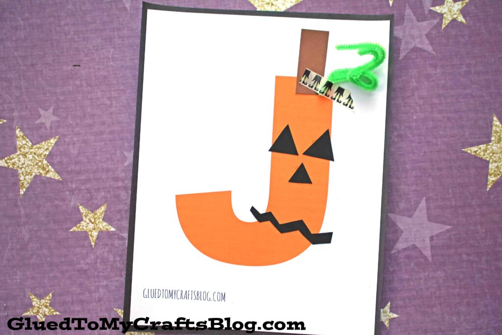 """J"" is for Jack-O-Lantern - Kid Craft"