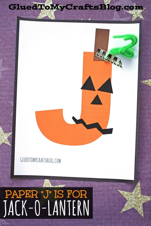 "Paper ""J"" is for Jack-O-Lantern Craft Idea For Kids"