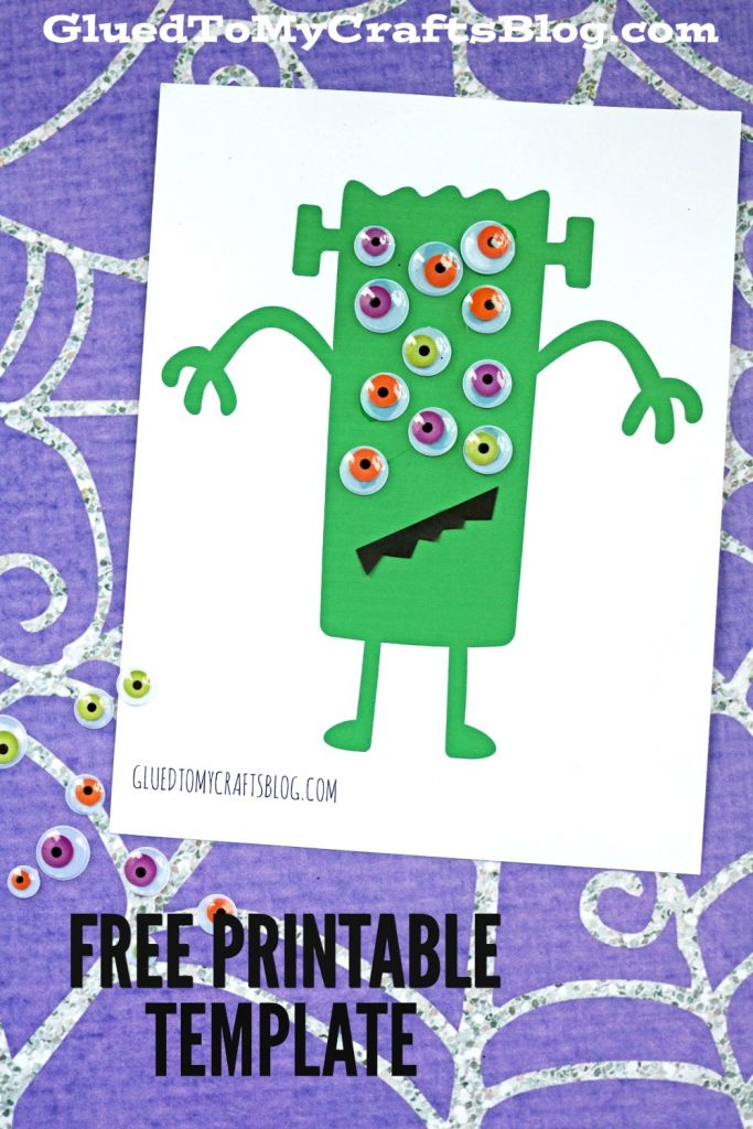 Simple Monster Kid Craft Idea w/free printable template