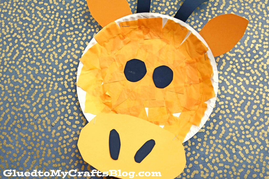 Tissue Paper & Paper Plate Giraffe - Kid Craft Idea
