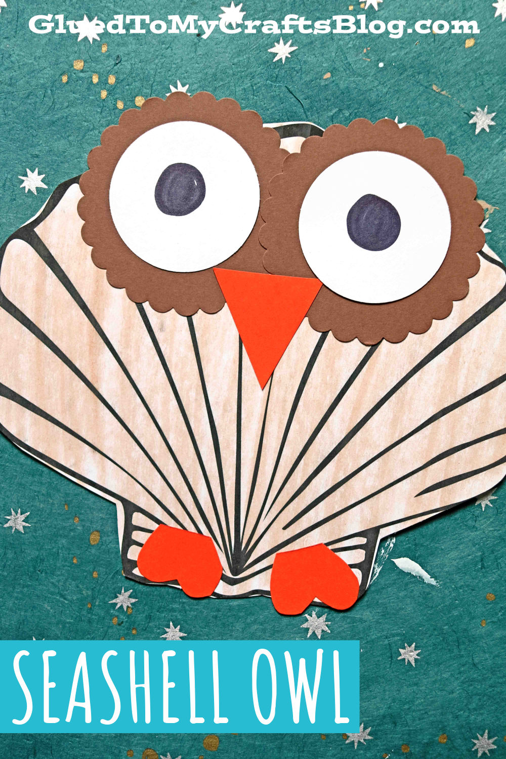 Paper Seashell Owl Craft For Kids To Tackle This Summer