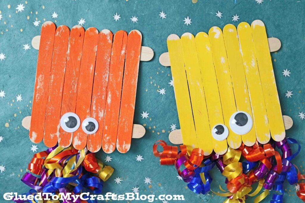 Popsicle Stick Octopus - Kid Craft