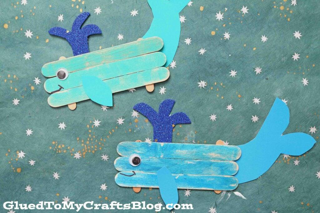 Popsicle Stick Whale - Kid Craft Idea