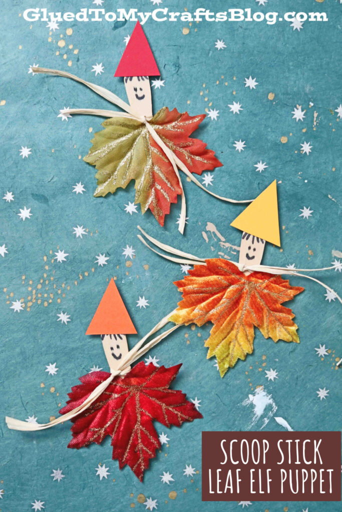 Wood Scoop Stick Leaf Elves - Kid Craft Idea For Fall