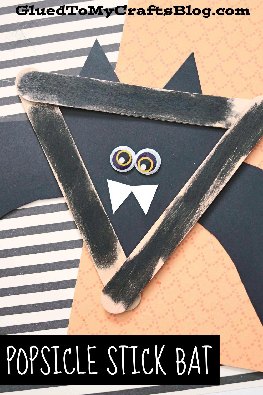 POPSICLE STICK BLACK BAT - KID CRAFT IDEA