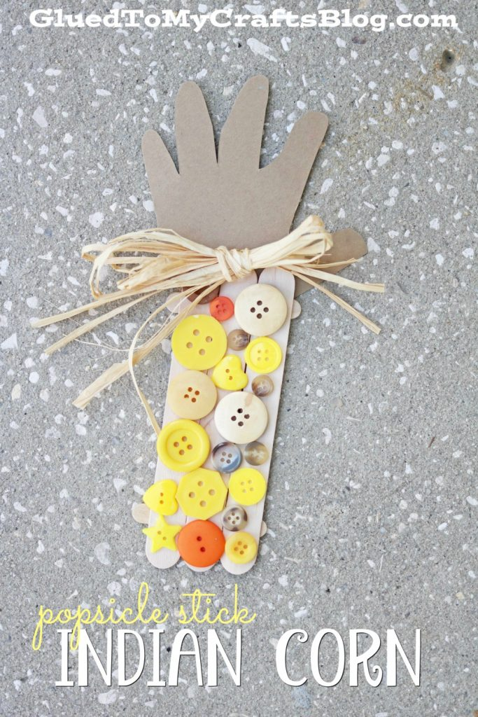 Popsicle Stick Indian Corn - Kid Craft