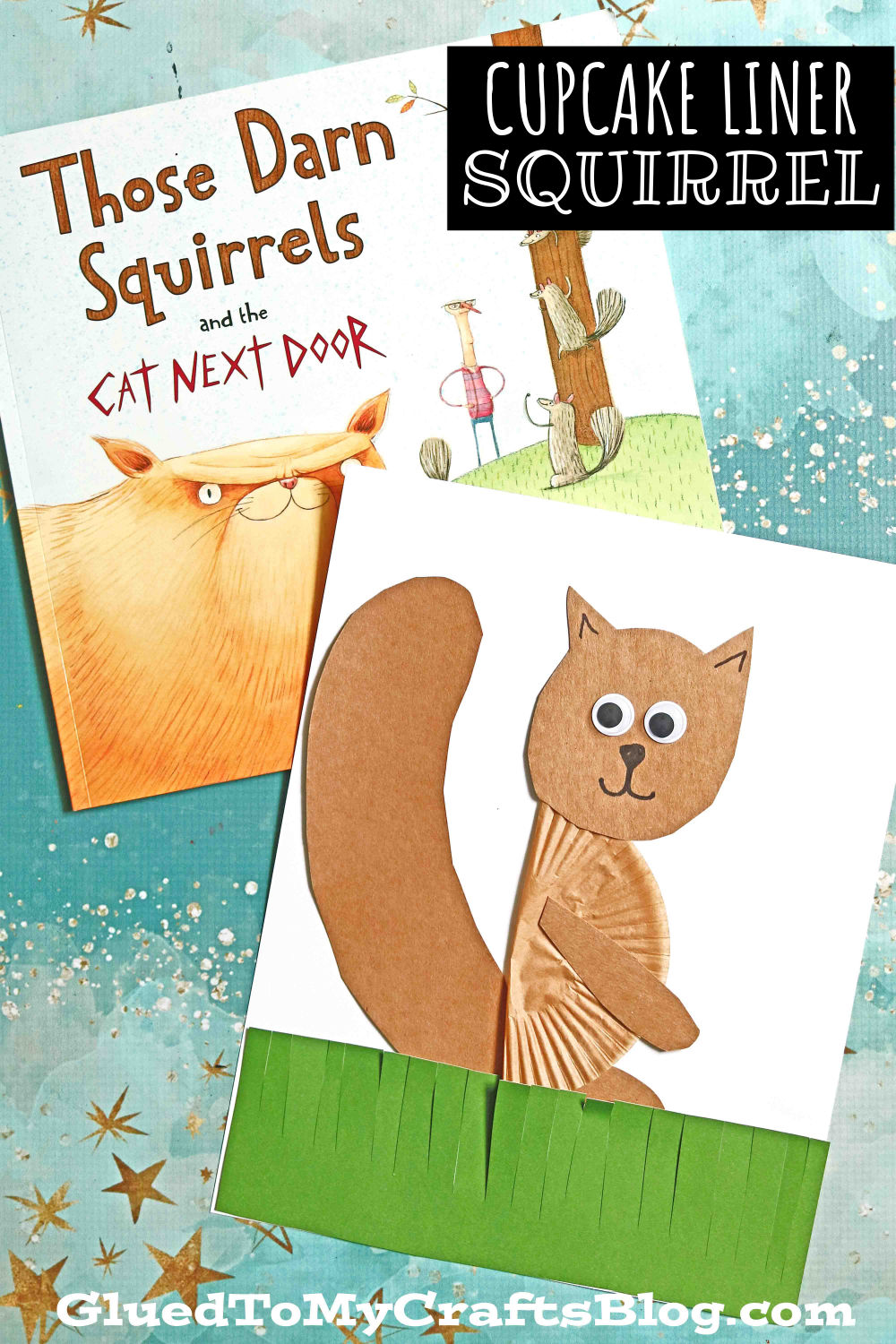 Cupcake Liner Squirrel - Kid Craft Idea For Story Time