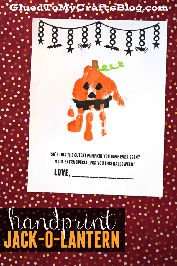 Handprint Pumpkin Printable Keepsake