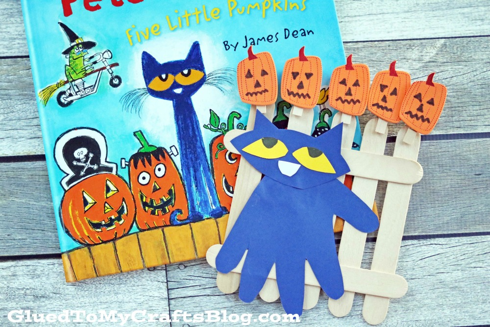 Pete the Cat : Five Little Pumpkins Kid Craft Idea