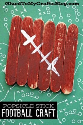 Popsicle Stick Footballs - Kid Craft