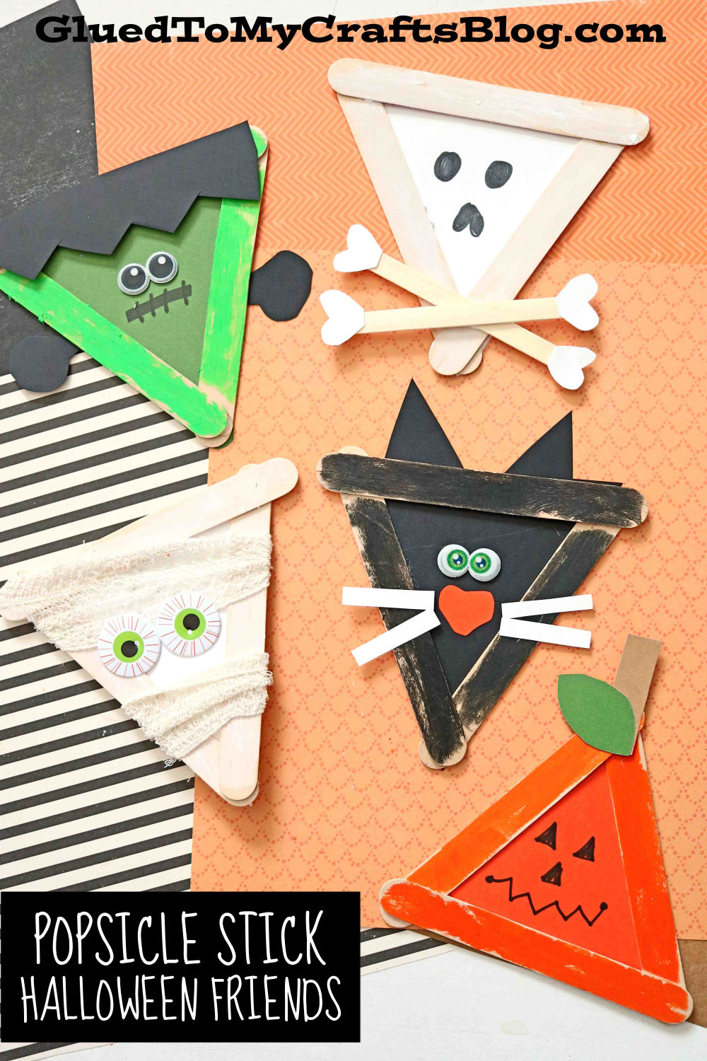 Bring These To Life, Popsicle Stick Halloween Friends Craft Idea For Kids