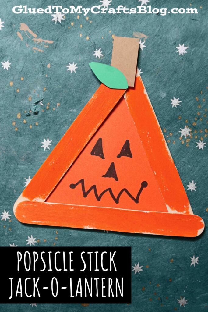 Popsicle Stick Jack-O-Lantern Pumpkin - Kid Craft Idea