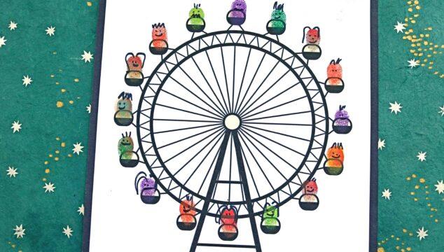 Thumbprint Ferris Wheel - Kid Craft Idea