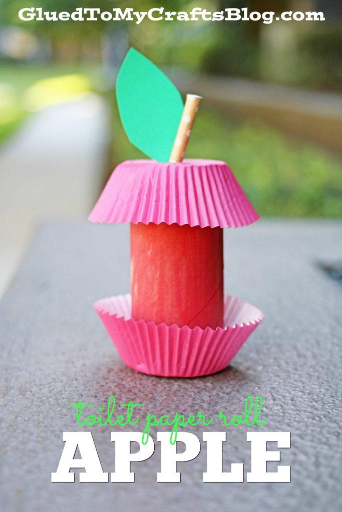 Cupcake Liner Toilet Paper Roll Apple - Kid Craft