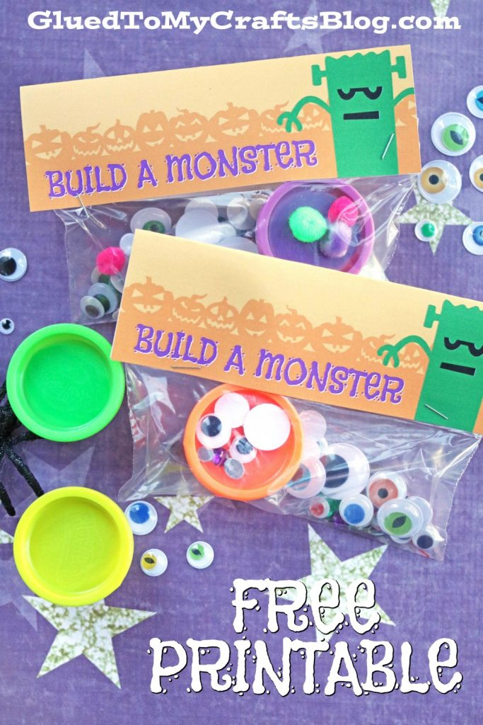 Build A Monster Party Favors - Halloween Freebie