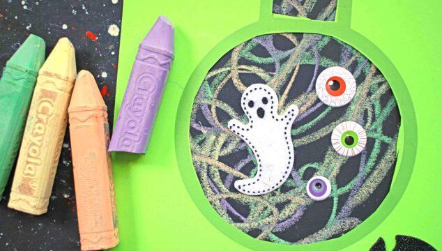 Paper Chalk Science Beaker Craft For Halloween