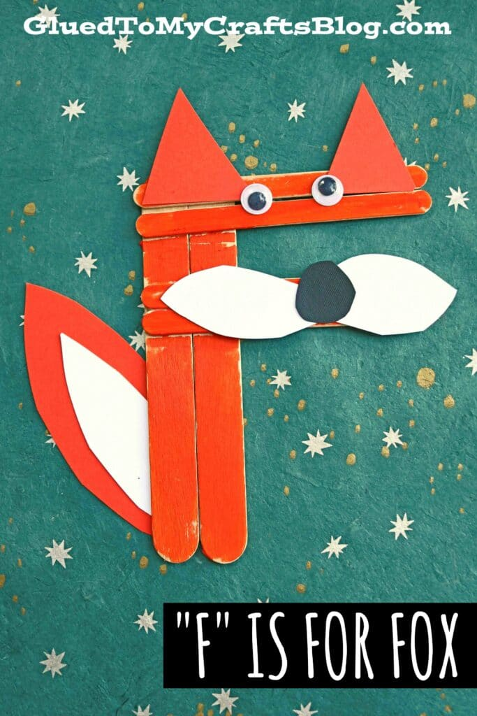 Craft Stick F is for Fox - Kid Craft Idea