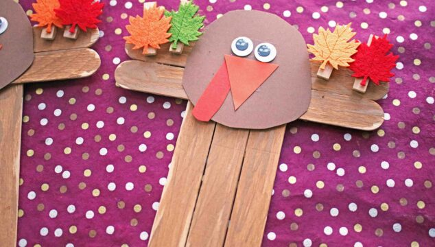 "Popsicle Stick ""T"" is for Turkey - Kid Craft"