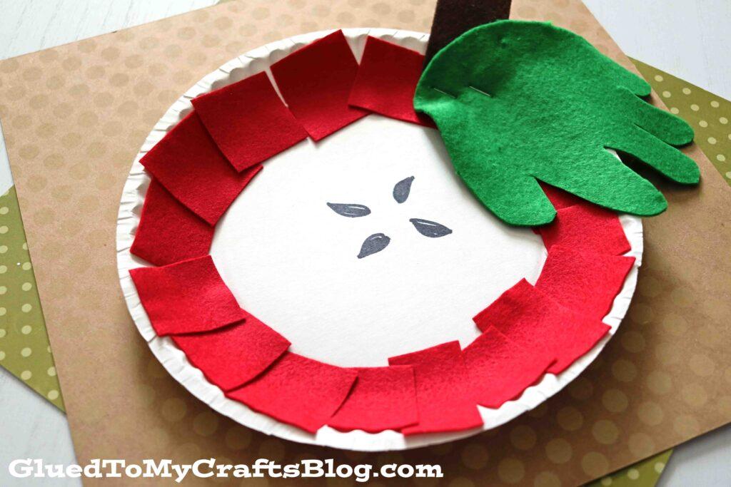 Paper Plate Felt Apple - Kid Craft