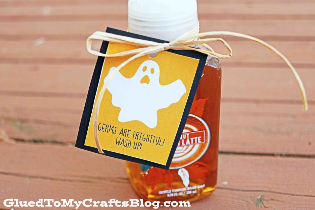 Germs Are Frightful, Wash Up! - Halloween Gift Tag Printable