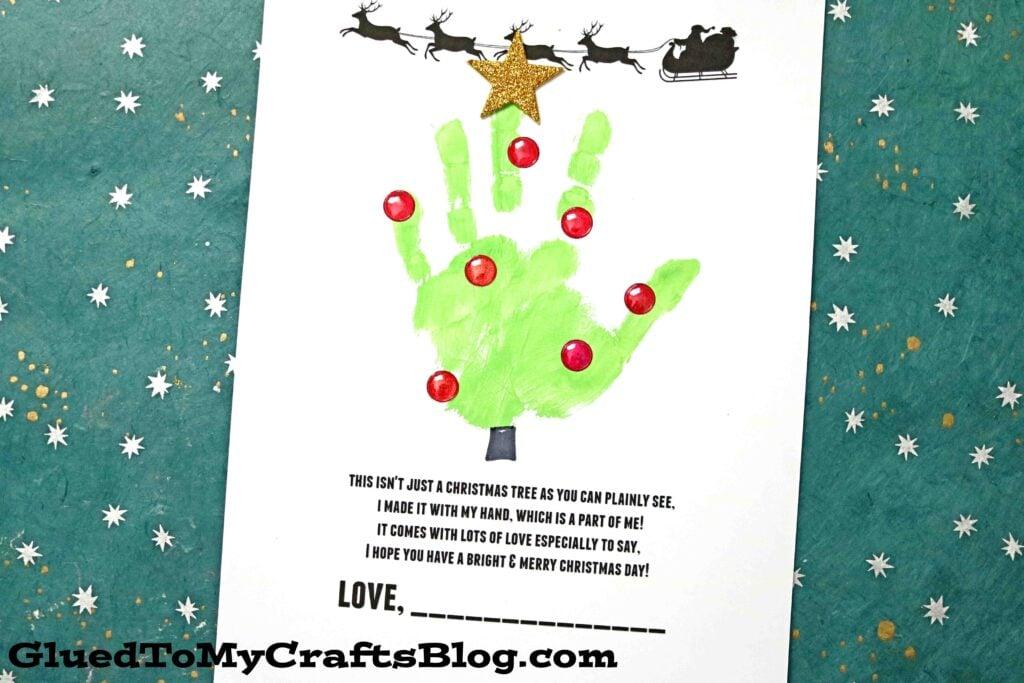 Handprint Holiday Poems For Christmas - Free Printables