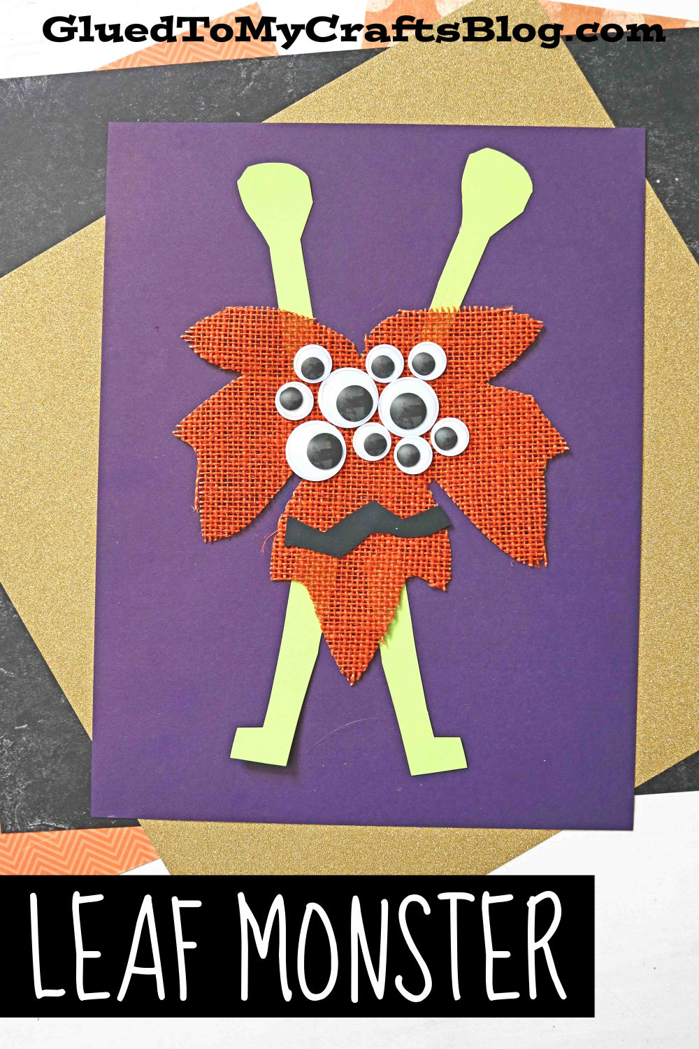 Not-So-Scary To Make Leaf Monsters - Fall Kid Craft Idea