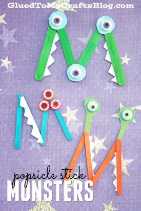 Popsicle Stick Monsters - M is for Monster